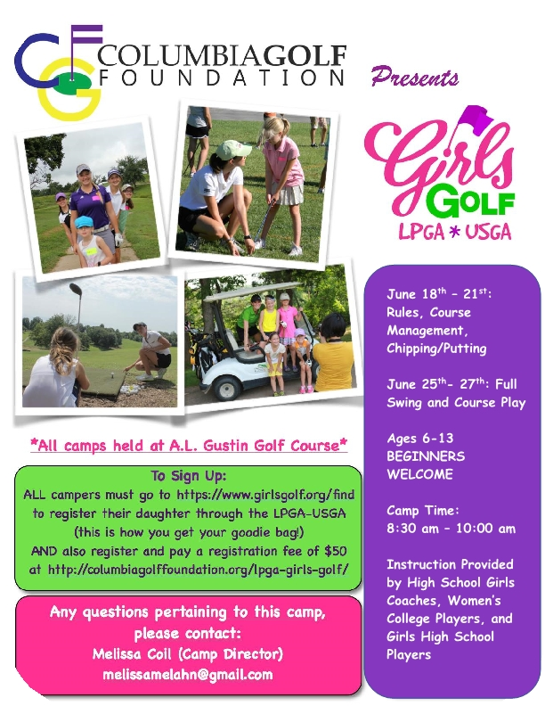 2018 Girls Golf Camp