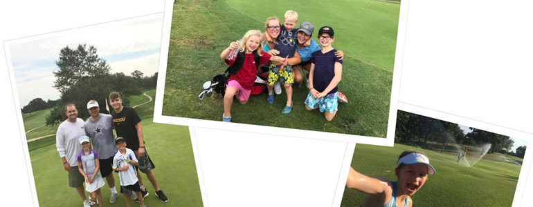 Columbia Golf Foundation Junior Golf League Photos Learning Session 3 Hole Scramble Coaches Teams Parents Kids Pizza Party Beginners